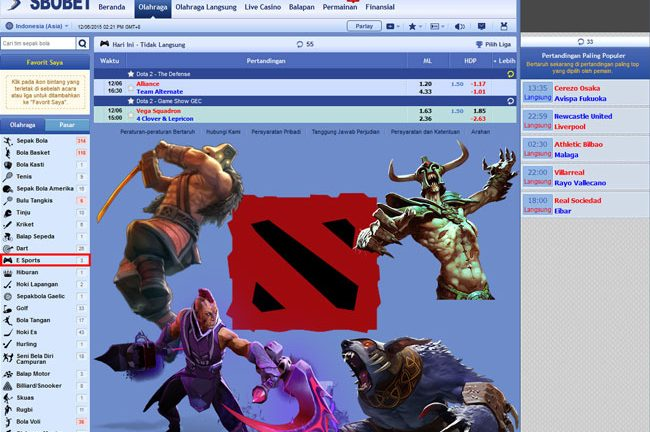 Cara Betting Dota 2